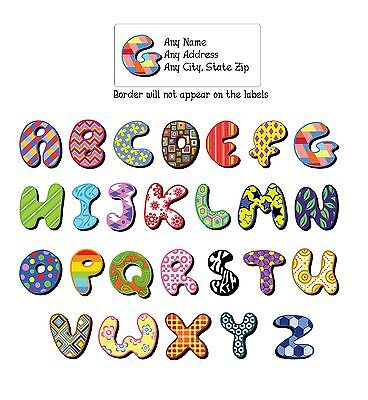- 30 Return Address Labels Alphabet Monogram Assorted Designs Buy 3 get 1 free