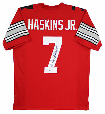 Ohio State Dwayne Haskins Jr. Authentic Signed Red Jersey Autographed BAS