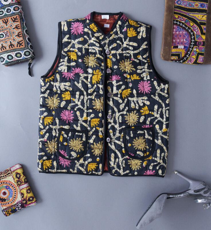 Indian Unisex Children Blazer Coat Handmade Reversible Jacket Quilted Clothing