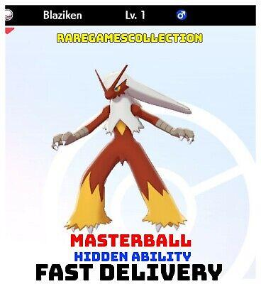 Pokemon Sword Shield ✨ SHINY ✨ 1️⃣ BLAZIKEN 6IV FAST DELIVERY