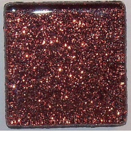 Glitter Glass Mosaic Tiles - Cocoa Brown - 3/8 inch - 50 Tiles - Craft & Art