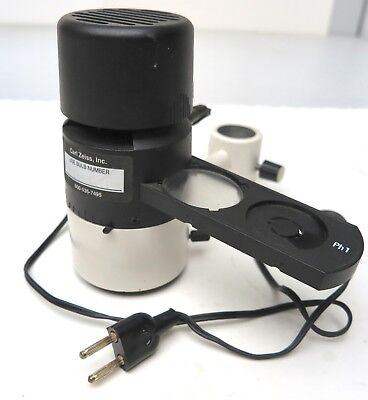 Carl Zeiss Microscope 6v 20w Illumination 20 3 Position Slider Ph 1 Ph2 Lamp