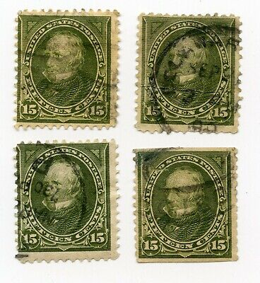 (4) 284 15¢ Olive Clay 1898