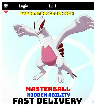 Pokemon Sword Shield ✨ SHINY ✨ 1️⃣ LUGIA 6IV FAST DELIVERY