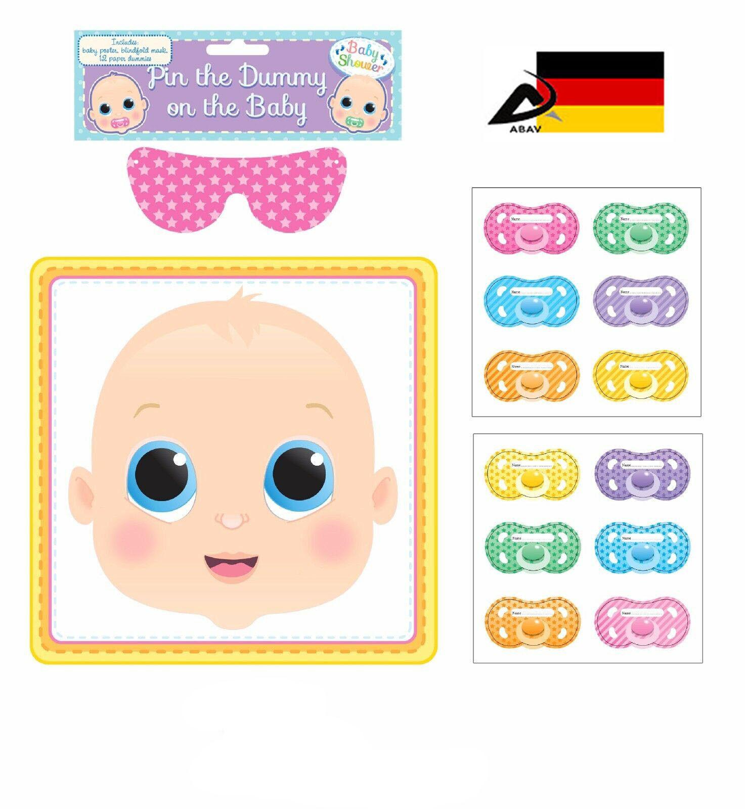 Gib dem Baby den Schnuller Party Spiel Kinder Spiel Baby Party Shower Poster