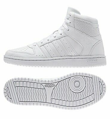 ADIDAS WOMENS SHOES HIGH TOP WHITE HOOPSTER MID SNEAKERS WED