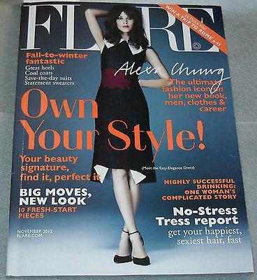 Flare Magazine November 2013 Alexa Chung Laetitia Casta Jake Johnson
