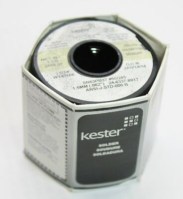 Kester 1lb 454g Solder 24-6337-8817 1.50mm 0.062 Dia. Ansi-j-std-006c 50245
