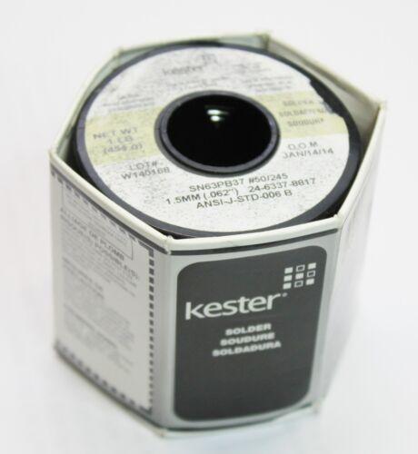 "Kester 1lb 454g Solder 24-6337-8817 1.50mm / 0.062"" Dia. ANSI-J-STD-006C #50/245"