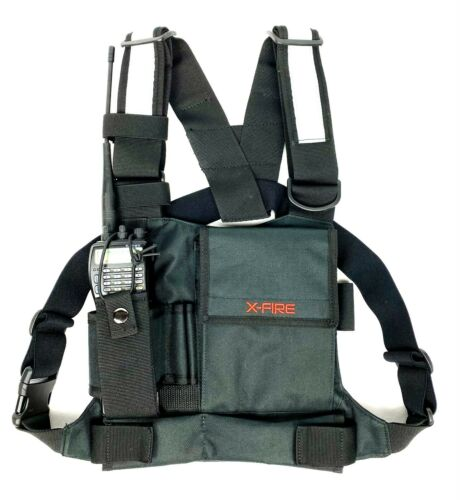 X-FIRE ® Single Radio Chest Harness w/ Tool Pockets and 3m Reflective Strips