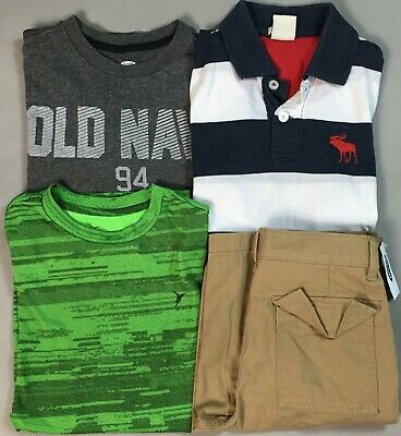 Boy's Size 10/12 Summer Clothes Lot Abercrombie Old Navy Shorts Shirts Some NWTS