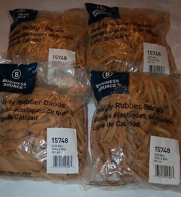 Business Source 15748 Size 64 Rubber Bands 4 One Pound Bags