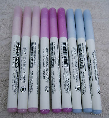 (American Crafts Glitter Marker Broad Point Lot of 9 ~ NEW)