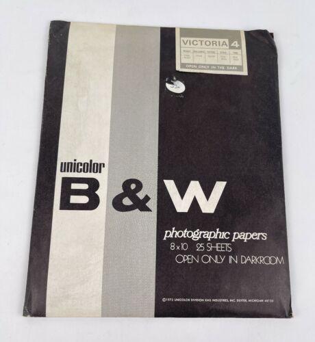 Unicolor B&W Photographic Paper 25 Sheets 8x10 Victoria 4