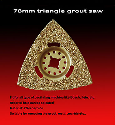 78mm Triangle Blades Grout Saw Oscillating Rockwell Rigid Bc2