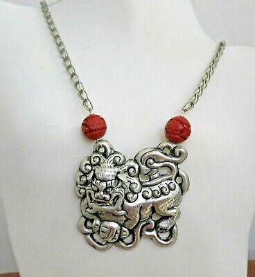 Vintage Beautiful Bone Necklace 72cm