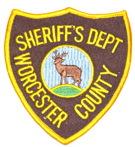 "WORCESTER COUNTY MASSACHUSETTS MA Sheriff Police Patch DEER STAG 4"" ~ 4"""