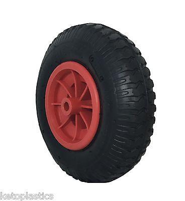 2.50-4 Pneumatic Wheel 220 x 65 Sack Truck Trolley Bent Valve (4 PLY) 12 mm Bore