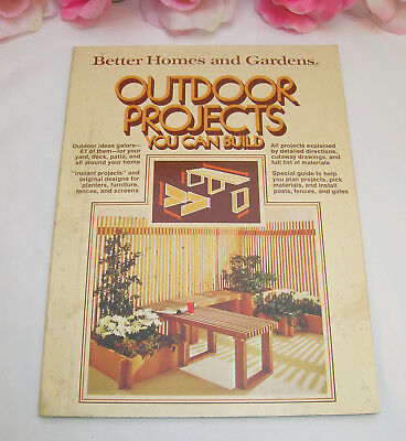 Vintage Better Homes and Gardens Outdoor Projects You Can Build 67 Ideas Patios ()