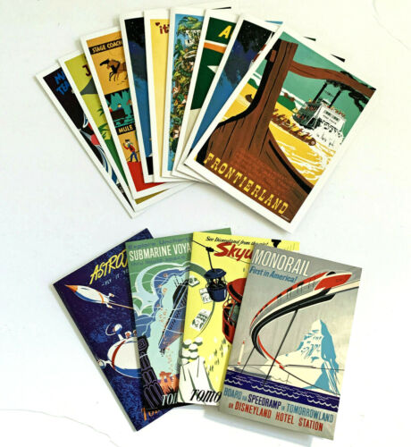 Disney Vintage Attraction Poster Note Cards Disneyland - You Pick from 13