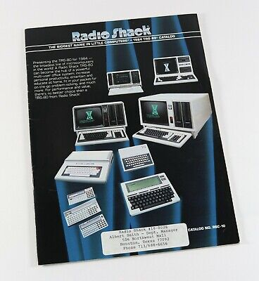 Vintage 1984 TRS-80 Radio Shack Computers Sales Brochure Catalog