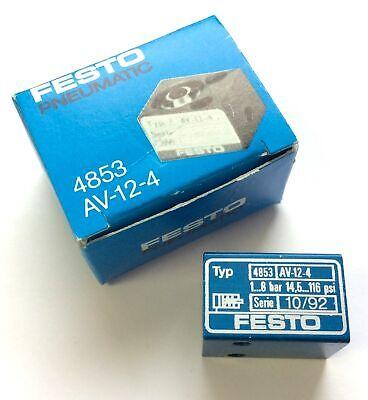 New Festo 4853 Av-12-4 Short-stroke Pneumatic Cylinder Stroke 4mm Piston 12mm