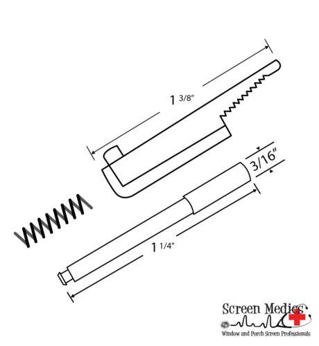 Flip type pull pin Plunger Pin - 10 Sets - Flip Top Pin