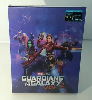Guardians Of The Galaxy Vol 2  2D   3D  Blu Ray Steelbook  Filmarena  Lenticular