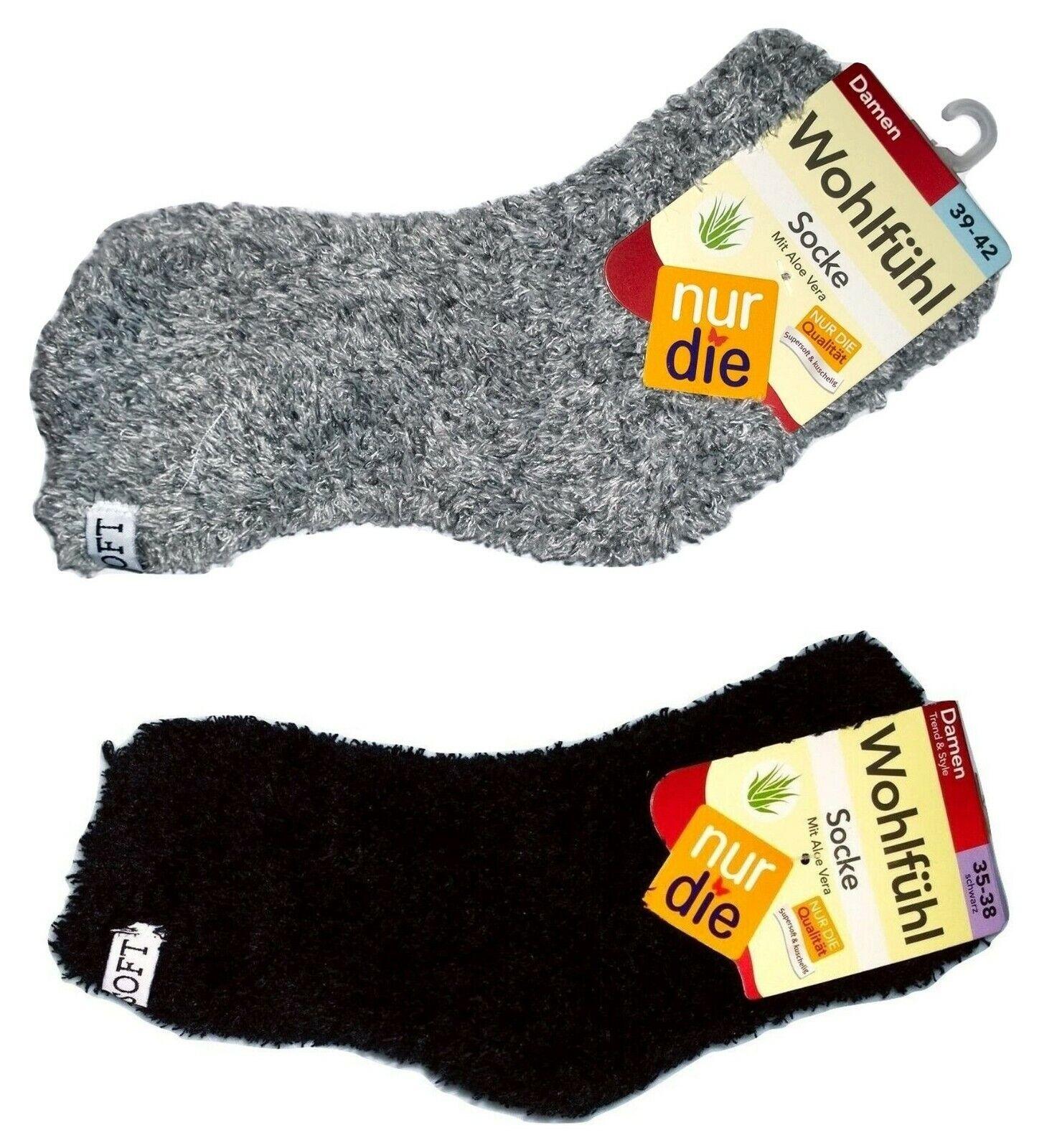 Nur Die Damen Wohlfühl Socke mit Aloe Vera Schwarz