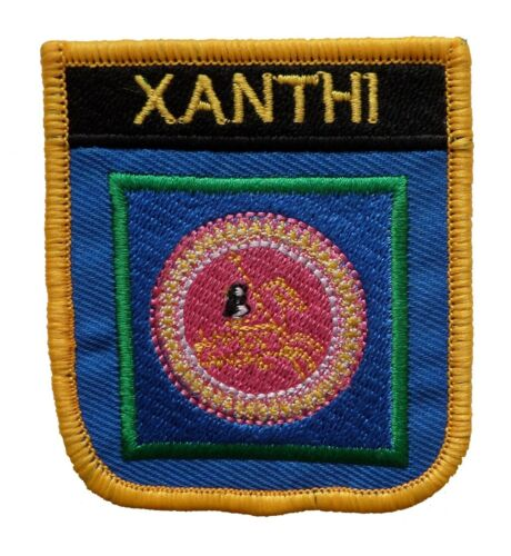 Xanthi Greece Shield Embroidered Patch