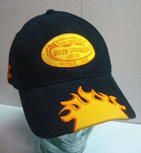 Red Iguana Restaurant Bar Baseball Sports Ball Cap Hat Salt Lake UT Red Gold Vtg