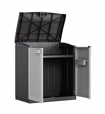 Splash Proof Plastic Cupboard Cabinet + Lift up Lid Garden Storage Box Locker