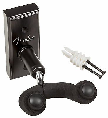 Genuine Fender Guitar Wall Hanger, Black, 099-1804-006