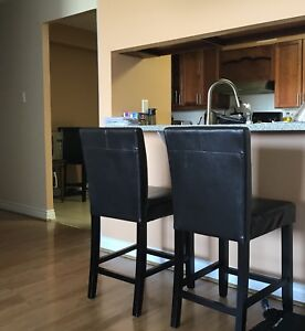 4 Leather Bar chairs