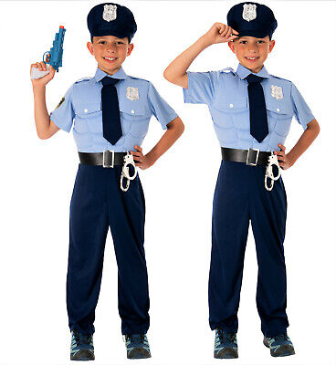 Polizei Kostüm Kinder Jungen mit Muskeln - Faschingskostüm - Kostüme Polizist