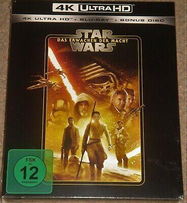 Star Wars: The Force Awakens 4K UHD+Blu Ray+Bonus Disc / Import/ WORLDWIDE P+P