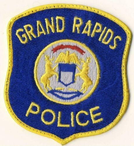 "Grand Rapids Police 4.5"" Heavy Patch Michigan MI"