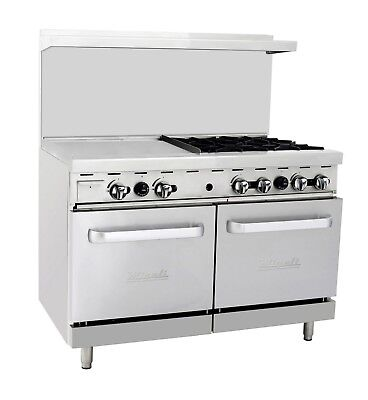 Migali C-ro4-24gl 4 Burner Range Oven With 24 Griddle Natural Gas