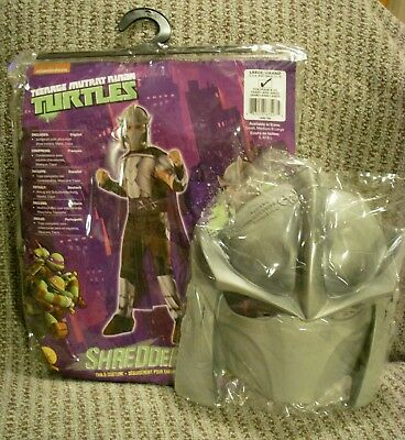 NEW Teenage Mutant Ninja Turtle Costume Child Large 12 - 14 Rubies Shredder - Shredder Costumes