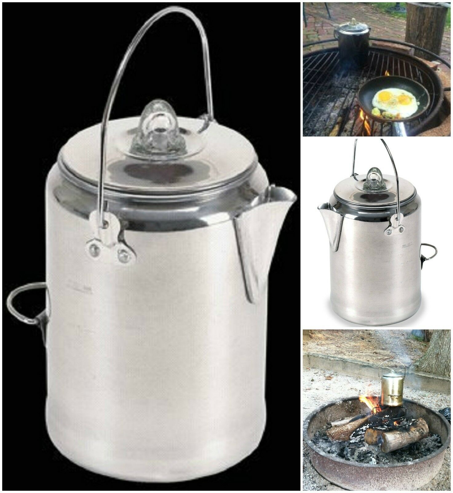 Stansport Campers Coffee Pot Percolating Camping Outdoor Percolator Campfire