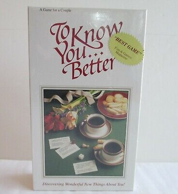 Getting to Know You Better Board Game for 2 Marriage Dating Friends Couples