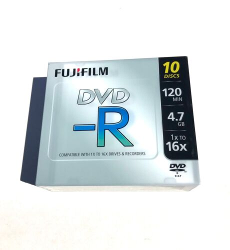 Fuji DVD-R 10 Pack with jewel cases (4.7Gb 16X) sealed