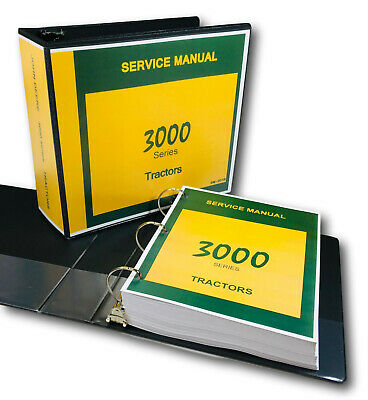 Service Manual For John Deere 3000 3010 3020 Tractor Technical Repair Shop Book