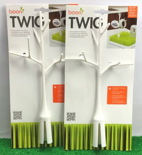 2x Boon Twig Grass Drying Rack Accessory / Baby Bottle Pacifier Wash Dry Hang