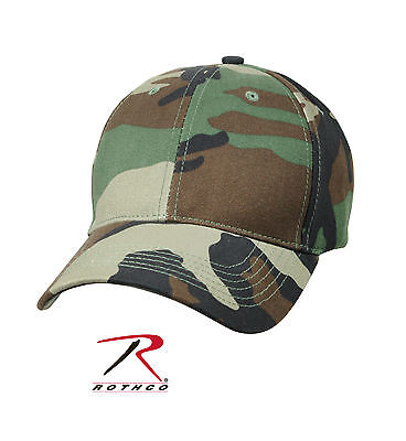 - 8285 Rothco Supreme Camo Low Profile Cap - Woodland Camo