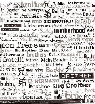 Flair - Brother Vellum Scrapbooking Paper - -