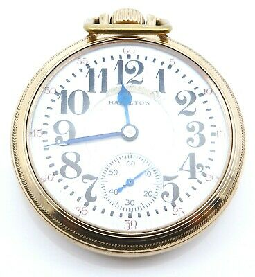 1935 Antique HAMILTON 10k Gold Filled Railroad Pocket Watch