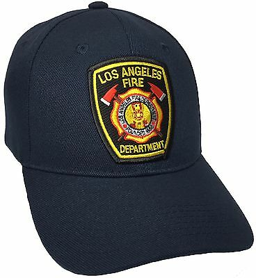 Los Angeles Fire Department LAFD Hat Navy Blue Adjustable New Ball cap  - Fire Hat