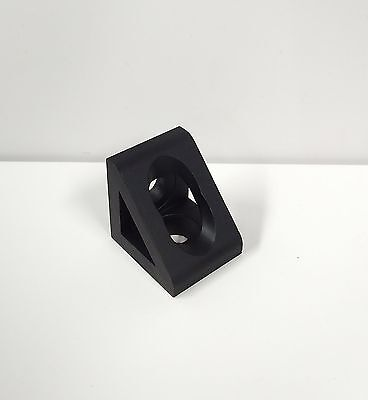 8020 Inc Equivalent Aluminum 2 Hole Inside Corner Gusset 10 Serie Pn 4132-black