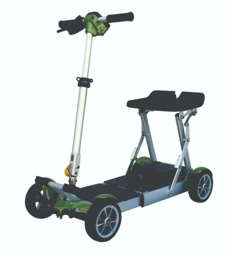 Green Ev Rider Gypsy Folding Scooter,only 37 Lbs, 250 Lb Cap,7-10 Miles,warranty